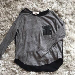 Long sleeve grey T-shirt from Loft